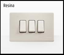 Serie de mecanismos y interruptores Magic de BTicino. Resina