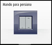Serie de mecanismos e interruptores livinglight de BTicino. Mando para persiana