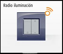 Serie de mecanismos e interruptores livinglight de BTicino. Mando radio iluminación