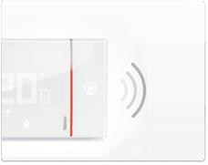 Serie de mecanismos e interruptores Smarther de BTicino