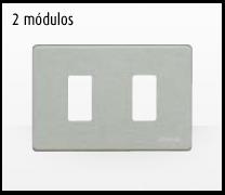 Serie de mecanismos y interruptores Magic de BTicino. 2 módulos