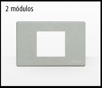 Serie de mecanismos y interruptores Magic de BTicino. 2 módulos grande