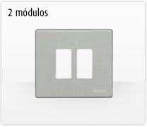 Serie de mecanismos y interruptores Magic de BTicino. 2 módulos cuadrada