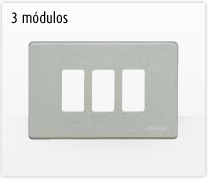 Serie de mecanismos y interruptores Magic de BTicino. 3 módulos