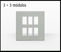 Serie de mecanismos y interruptores Magic de BTicino. 3 + 3 módulos