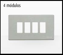 Serie de mecanismos y interruptores Magic de BTicino. 4 módulos