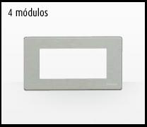 Serie de mecanismos y interruptores Magic de BTicino. 4 módulos grande