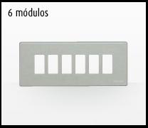 Serie de mecanismos y interruptores Magic de BTicino. 6 módulos