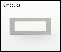 Serie de mecanismos y interruptores Magic de BTicino. 6 módulos grande