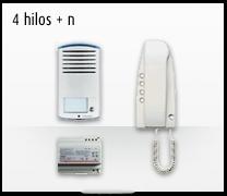Telefonillo, videoportero y portero. Kit analógico 4 hilos + n 2