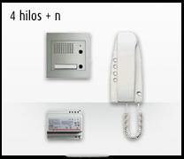 Telefonillo, videoportero y portero. Kit analógico 4 hilos + n